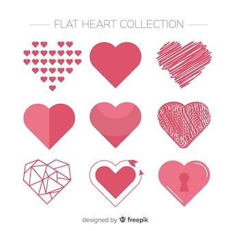 Set cuore piatto