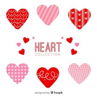 Set cuore stampato