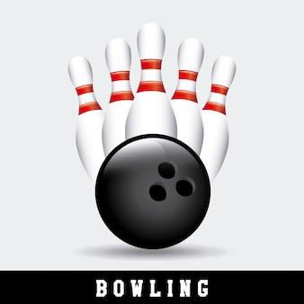 Set da bowling con palla