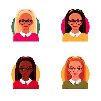 Set da donna in bicchieri.