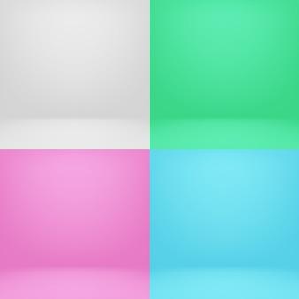 Set da studio colorato