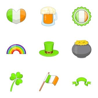 Set da viaggio irlanda, stile cartoon