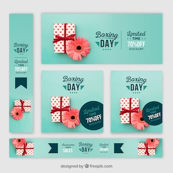 Set de banners de boxing day