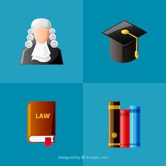 Set de elementos de derecho y justicia
