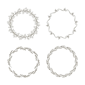 Set decorativo ghirlande floreali