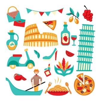 Set decorativo italia