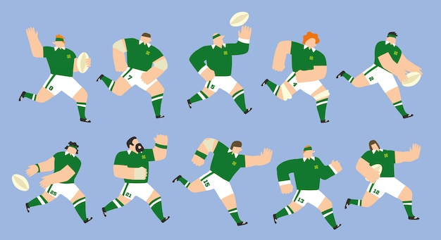 Set dell'irlanda rugby team