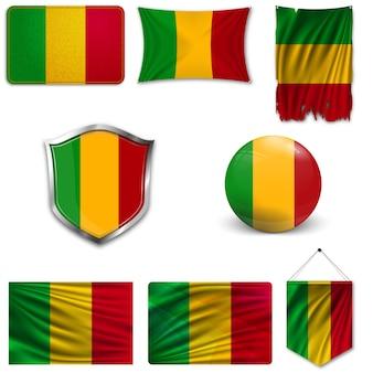 Set della bandiera nazionale del mali
