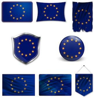 Set della bandiera nazionale dell'unione europea