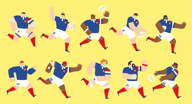 Set della squadra di rugby della francia