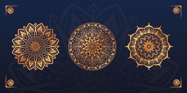 Set design mandala d'oro