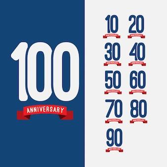 Set di 100 anni anniversario