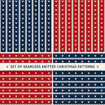 Set di 4 modelli a maglia senza cuciture stile fair isle tradizionale