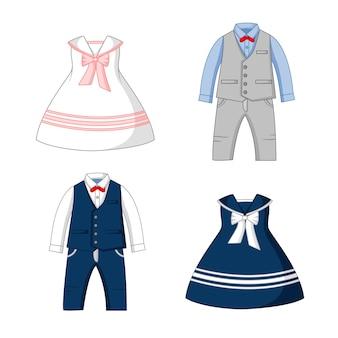Set di abbigliamento da festa per bambini