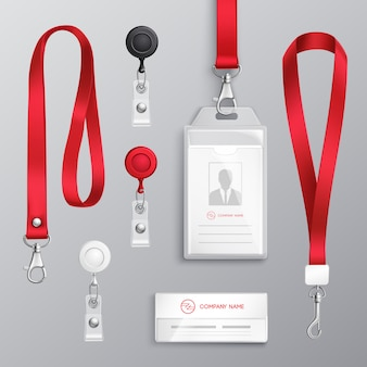 Set di accessori per badge di identificazione