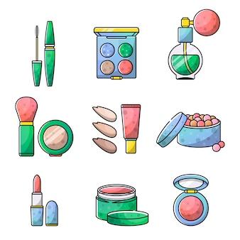 Set di accessori per un bellissimo oggetto per il trucco