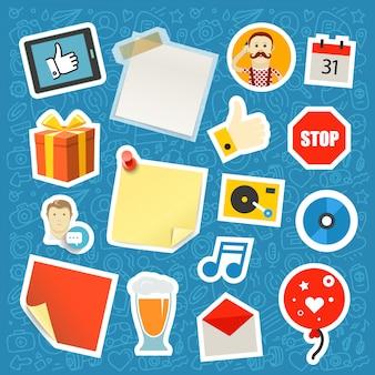 Set di adesivi app