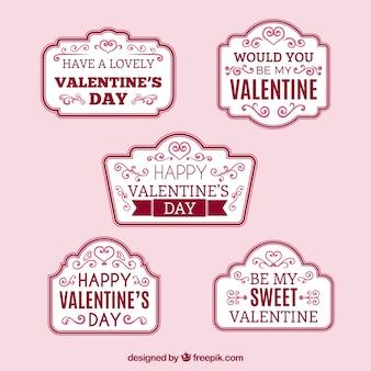 Set di adesivi con frasi d'amore