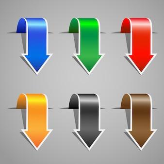 Set di adesivi con freccia