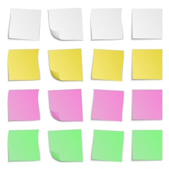 Set di adesivi di carta colorata. illustrazione