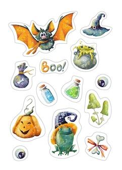 Set di adesivi di halloween
