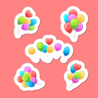 Set di adesivi di palloncini