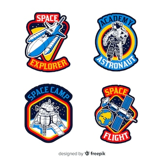 Set di adesivi diversi con spazio