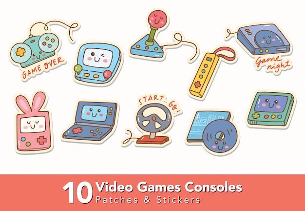 Set di adesivi e patch per console per videogiochi