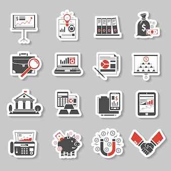 Set di adesivi finanza