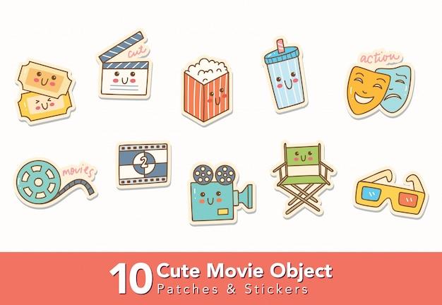 Set di adesivi oggetto film carino