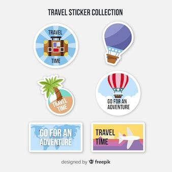 Set di adesivi piatti da viaggio