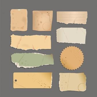 Set di adesivi tono vecchio