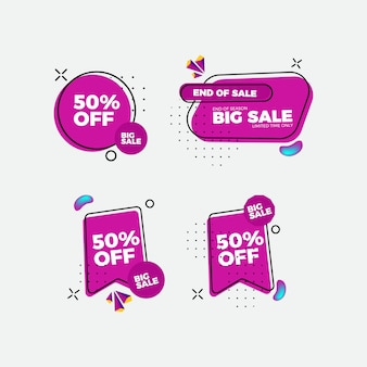 Set di adesivi vendita design piatto