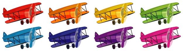 Set di aeroplano in otto colori