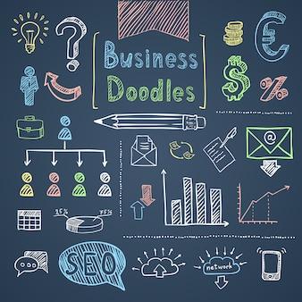 Set di affari di doodle