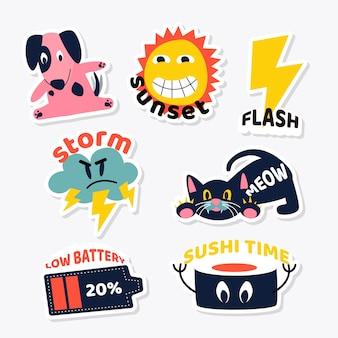Set di animali e oggetti design adesivo
