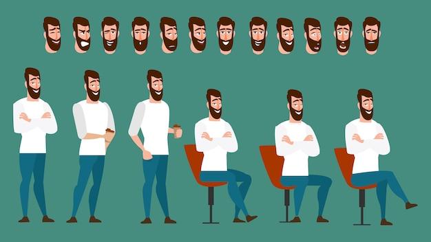 Set di animazioni di personaggi dei cartoni animati per il tuo motion design