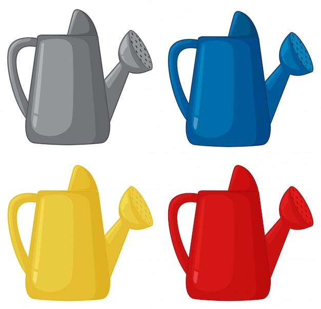 Set di annaffiatoio di colore diverso