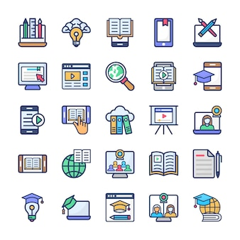 Set di appartamenti per l'apprendimento online