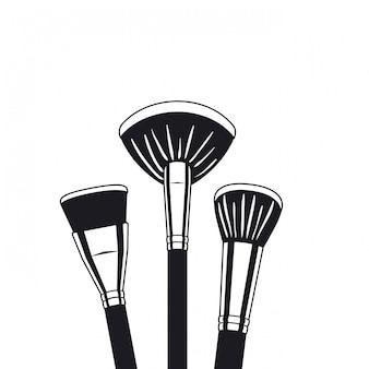 Set di applicatori compongono accessori per pennelli
