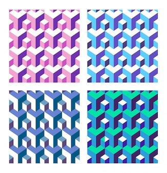 Set di astratto isometrica