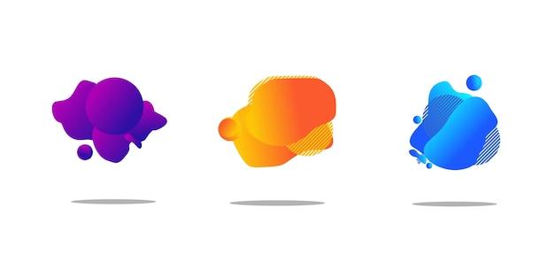 Set di astratto sfondo liquido