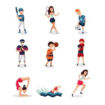Set di atleti professionisti