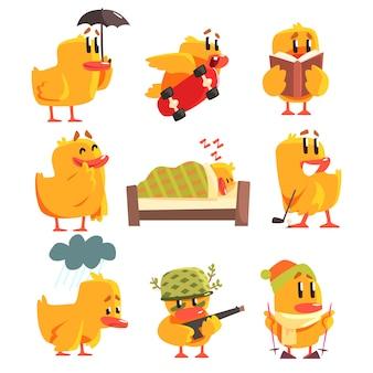 Set di attività diverse di anatroccolo di adesivi simpatici personaggi