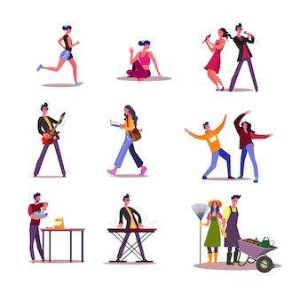 Set di attività o hobby