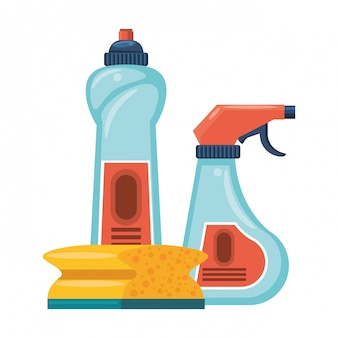 Set di attrezzature e prodotti per la pulizia