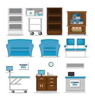 Set di attrezzature per ambulatorio veterinario