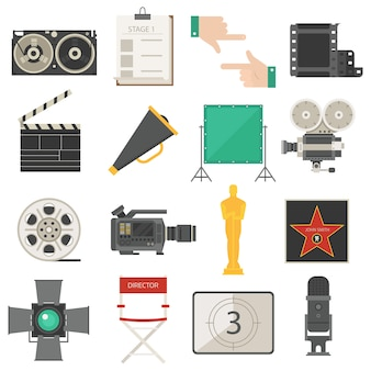Set di attrezzature per strumenti cinematografici cinematografici