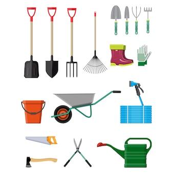 Set di attrezzi da giardinaggio. attrezzature per giardino