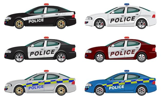 Set di auto della polizia